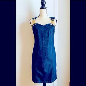 WOW Factor, Sexy Fit ! NWOT Jean Dress  Size 8